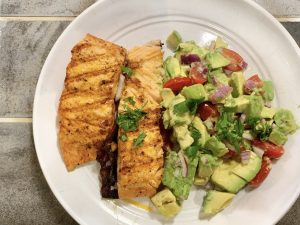 Recipe of the Week- Pan Seared Salmon with Avocado Salad